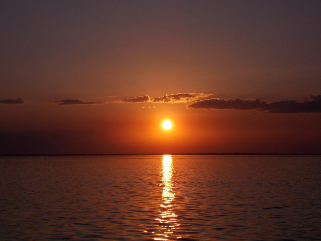 Закат на Федотовій Косі