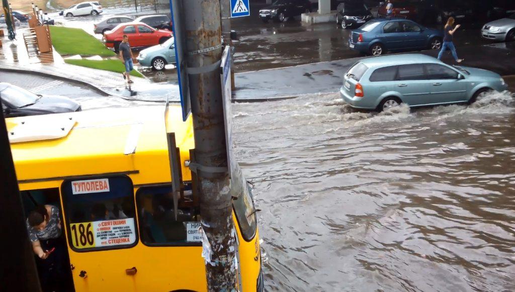 Грозовий дощ у Києві